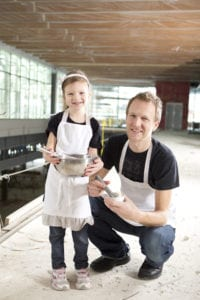 Love's Ice Cream Founder, Chris McKellar, and daughter, Ruby