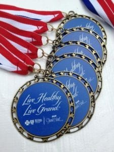 live healthy live grand medal