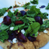 Grilled Cherry, Goat Cheese and Arugula Naan Pizza
