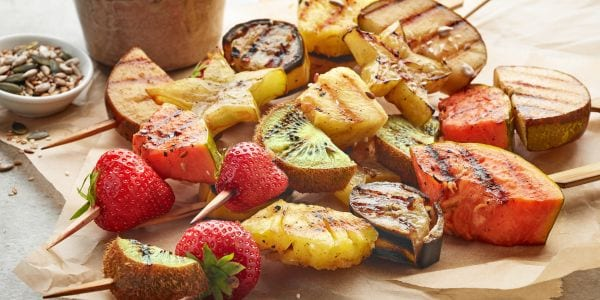 Grilled fruits