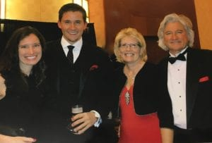 Sue VanDyk with her family, daughter Caitlin, son Ryan, and husband Tom at the West Michigan Heart Ball.