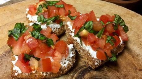 Bruschetta Hearts