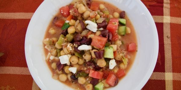 Slow Cooker Mediterranean Chickpea Stew