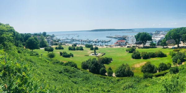 Image of Mackinac Island taken from Fort Mackinac.