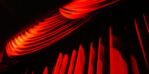 image of red stage curtain